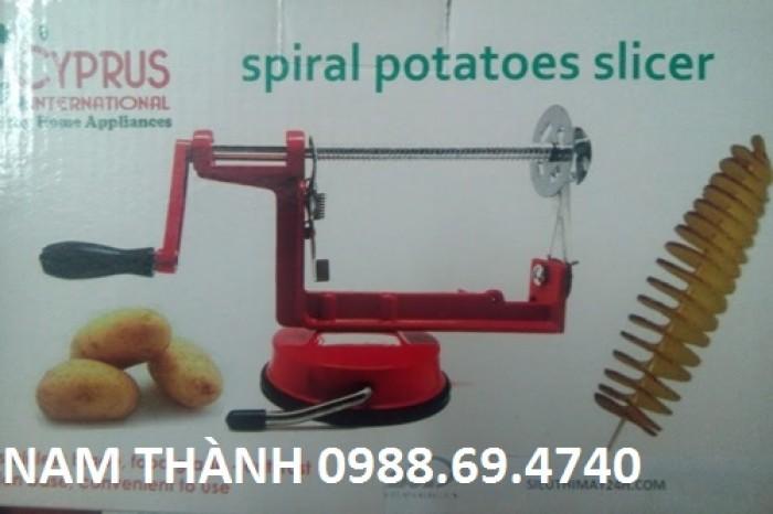 Bán máy cắt khoai tây lốc xoáy ,dạng xoắn ,con trì giá rẻ tại cầu giấy