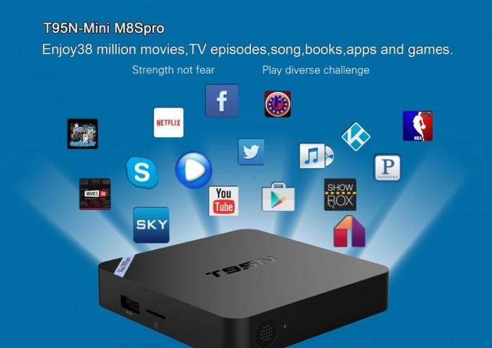 TV Box T95N Mini M8S Pro S905X 2GB/8GB Android 6.0 - Free ship toàn quốc1