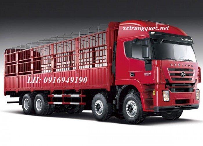 Xe tải thùng 4 chân hongyan iveco( 8x4) tiêu chuẩn euro 3 động cơ cursor của italia 0