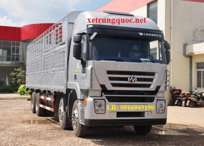 Xe tải thùng 4 chân hongyan iveco( 8x4) tiêu chuẩn euro 3 động cơ cursor của italia 1