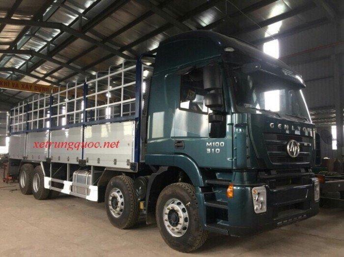 Xe tải thùng 4 chân hongyan iveco( 8x4) tiêu chuẩn euro 3 động cơ cursor của italia 3
