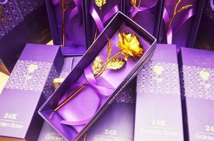 Hoa mạ vàng 24k có hộp0
