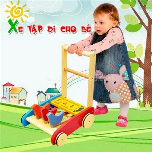 Xe gỗ tập đi cho bé (KJ0093)0