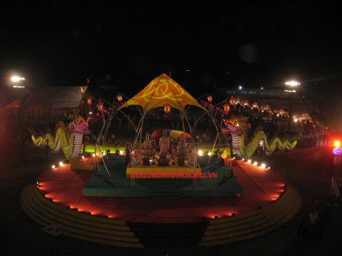 Đèn lồng minh hoa tưng bừng đón mừng ngày lễ hội tâm linh0