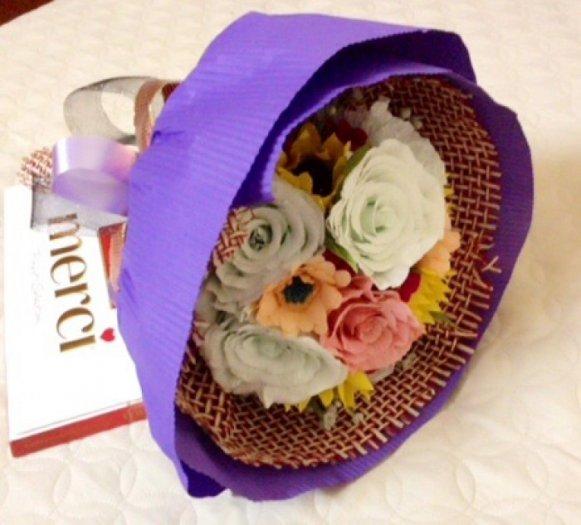 Bó hoa giấy handmade2