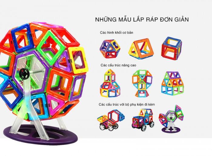 Miếng ghép nam châm MAGBO FULL Phụ Kiện - Đồ chơi phát triển trí tuệ cho bé - MSN3880833