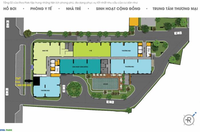 Bán lô thương mại dự án Riva Park Quận 4 bàn giao 06/2017
