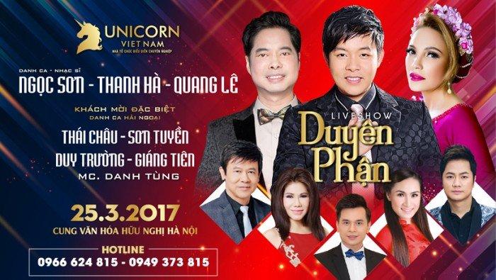 Liveshow đêm nhạc Duyên Phận - Đêm nhạc Bolero Quang Lê, Ngọc Sơn