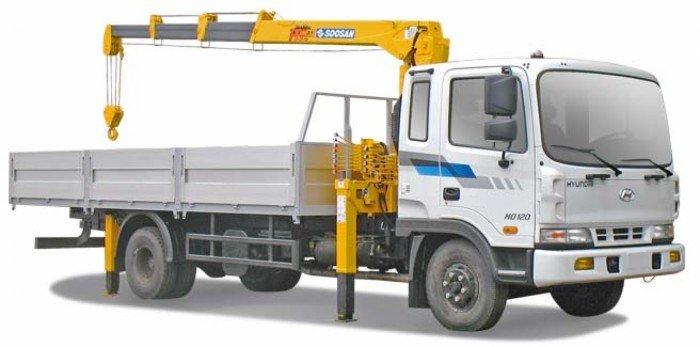 Xe tải gắn cẩu Hyundai HD120, Hyundai 5 tấn, thùng dài 6m