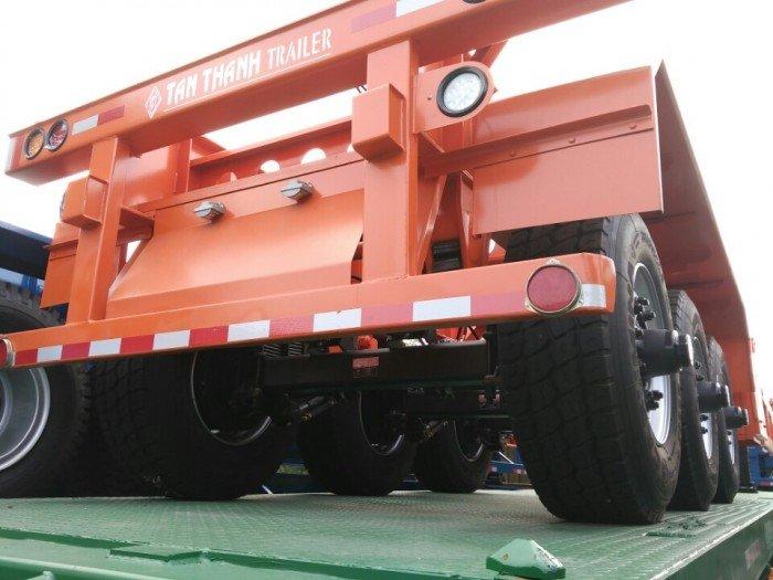 Xương 3 trục 30 feet chở bồn dầu,Rơ mooc 3 trục 30 feet tải 32 tấn, rơ mooc tân thanh 3 trục 30 feet