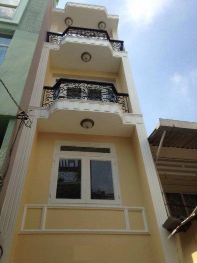 Nhà mới xây HXH Trần Hưng Đạo Q1 lửng lầu St 4.58 tỷ