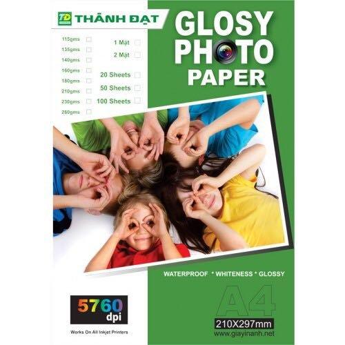 giấy in ảnh 2 mặt 35k 1 xấp 50 tờ mua 10 tặng 1
