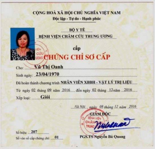 Đào tạo nghề Xoa bóp bấm huyệt - Cấp chứng nhận BV Châm cứu TW