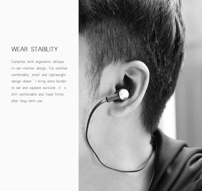 Trong tai mũ và móc tai giữ tai nghe ổn định trên tai của bạn, không lo lắng bị rơi rụng0