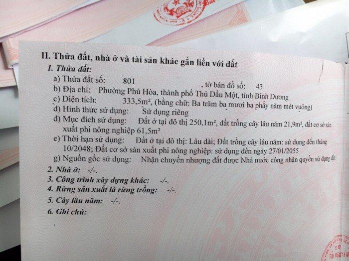 Chỉ 3 lô duy nhất tại Phú Hòa cho khách đầu tư và Xây Nhà Trọ