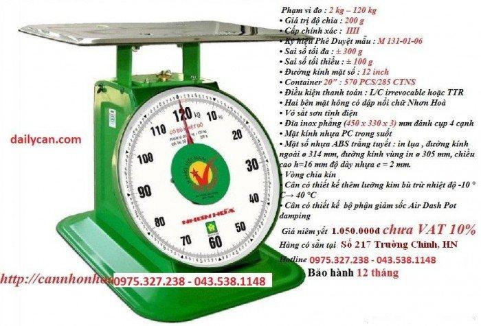Cân đồng hồ nhơn hòa, cân nhơn hòa 100kg, cân sức khỏe nhơn hòa1