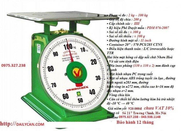 Cân đồng hồ nhơn hòa, cân nhơn hòa 100kg, cân sức khỏe nhơn hòa2