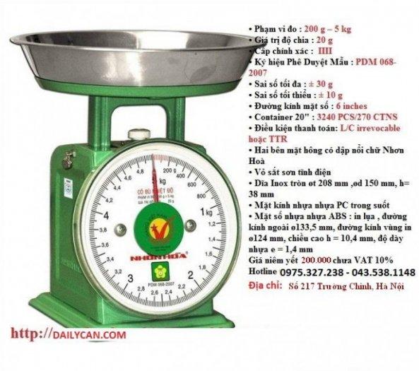 Cân đồng hồ nhơn hòa, cân nhơn hòa 100kg, cân sức khỏe nhơn hòa7