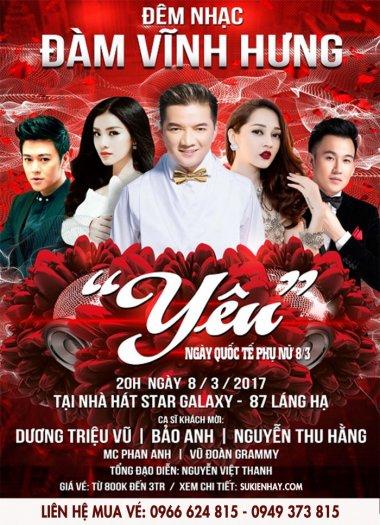 Mua vé liveshow Đàm Vĩnh Hưng 8/3/2017