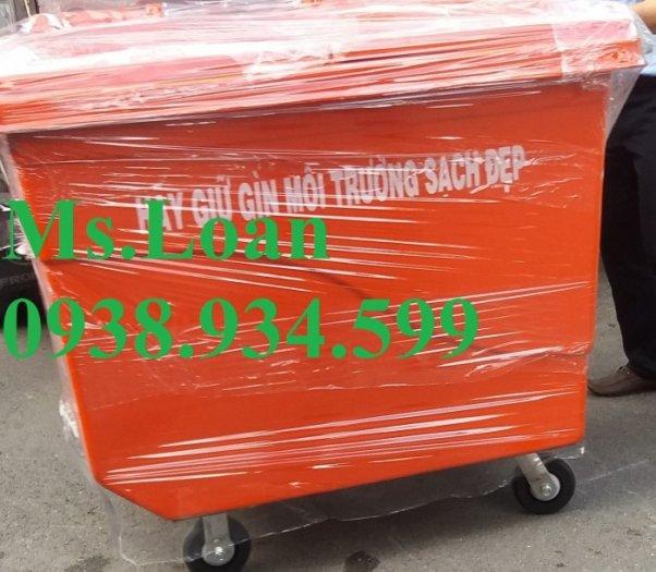 thùng rác 1000 lít 4 bánh xe nhỏ5