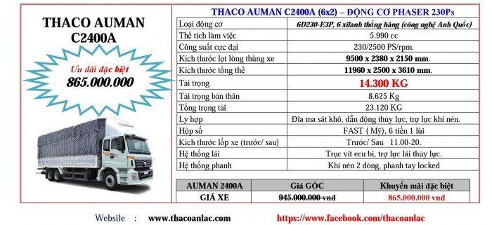 Giá Đầu kéo, tải nặng Hyundai, Auman, Thaco đời 2017, 2016, 2015. Giá ưu đãi 7