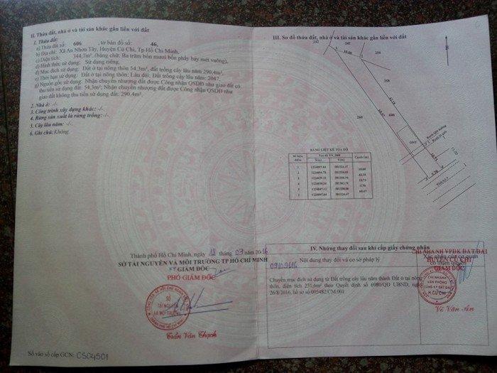 Bán nhà mặt tiền và đất tại Xã An NhơnTây, HuyệnCủ Chi, Tp.HCM