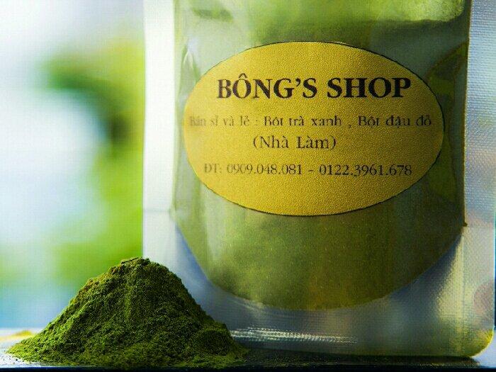 Bột trà xanh nguyên chất nhà làm0
