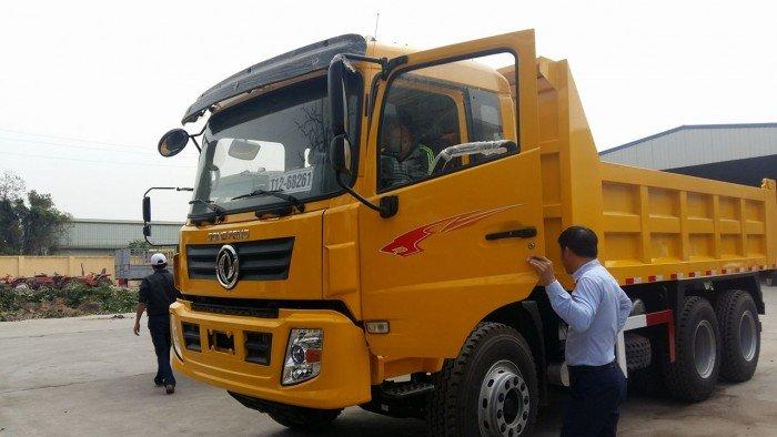 Xe tải ben tự đổ 3 chân Dongfeng tải trọng 13.345kg 0