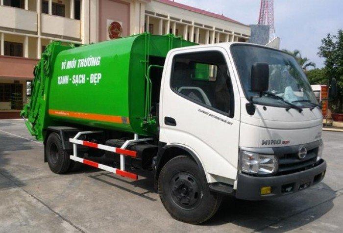 Xe ô tô chở rác 6 khối nhãn hiệu HINO 0