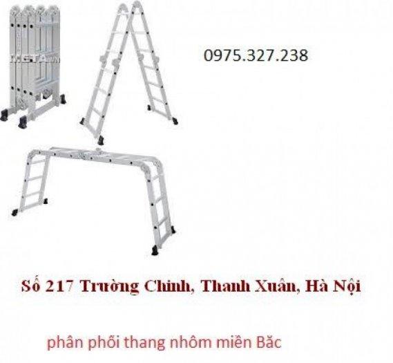 Thang nhôm ghế, thang nhôm PAL đài loan, thang nhôm 4 đoạn, thang nhôm gấp khúc, thang chữ A nhập khẩu4