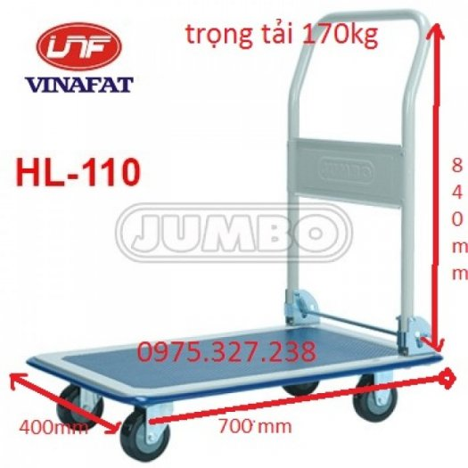 Kích thước xe : Dài 745X Rộng 485X Cao tay đẩy 860mm Kích thước mặt sàn : Dài 740 x Rộng 450mm Tải trọng : 170kg0