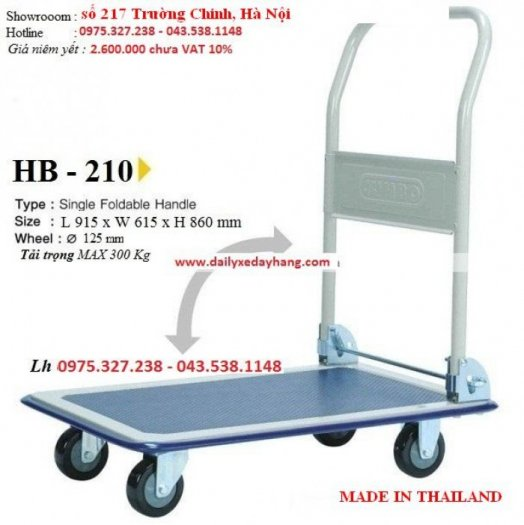 Xe đẩy hàng Jumbo Thái Lan, xe kéo tay nhập khẩu, xe đẩy hàng Jumbo HL-1101