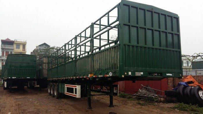 Sơmi rơ móoc lồng 12,4m CIMC tải 31,7 tấn 3 trục 2