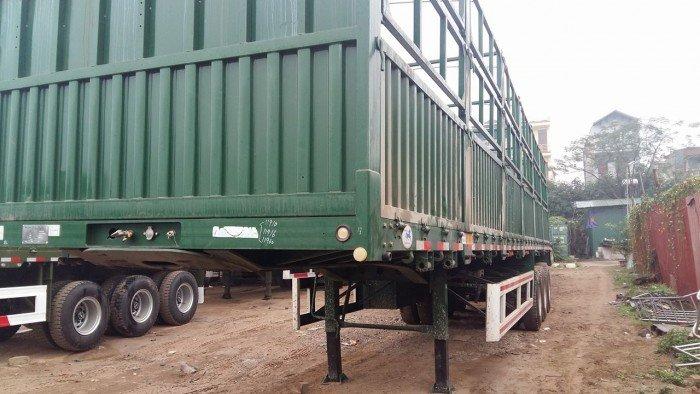 Sơmi rơ móoc lồng 12,4m CIMC tải 31,7 tấn 3 trục 3