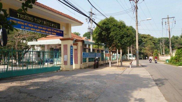 Bán đất kinh doanh buôn bán mặt tiền đường nhựa 6m, đối diện trường THPT Bình Phú, TP. TDM