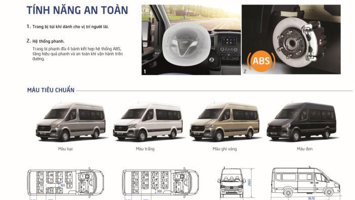 Giá xe minibus H350 HYUNDAI,Xe 16 chỗ Hyundai H350 Bình Dương, Tây Ninh giá ưu đãi