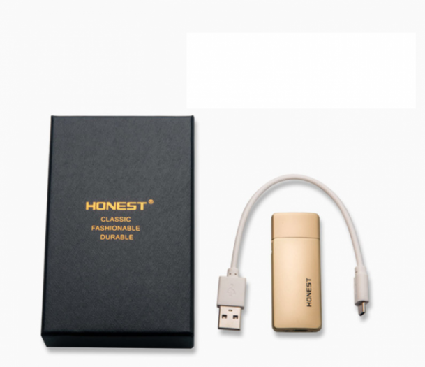 Hộp quẹt Honest pin sạc xi vàng cao cấp 2xenshop1