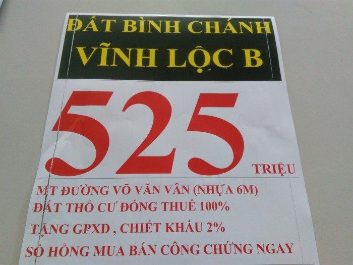BÁN Đất:4x15m 1xẹt 1A vĩnh lộc b Võ Văn Vân