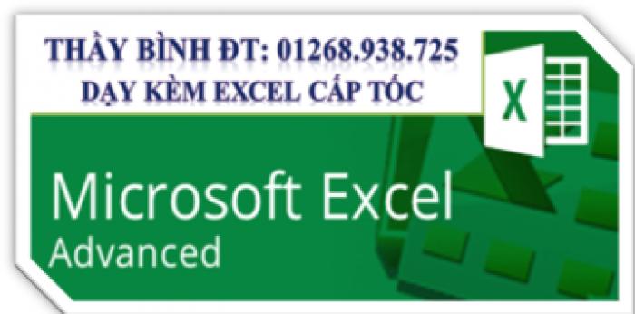 Dạy Excel cấp tốc cho người đi làm - Thầy Bình