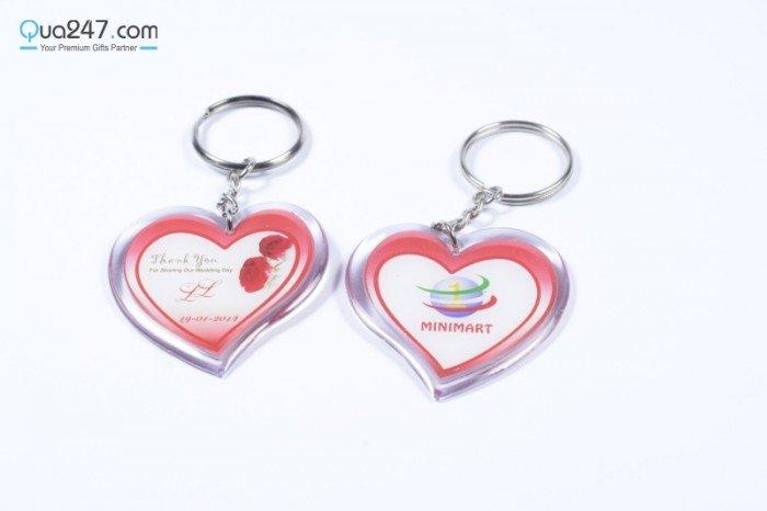 Móc khóa đổ keo hinh trái tim