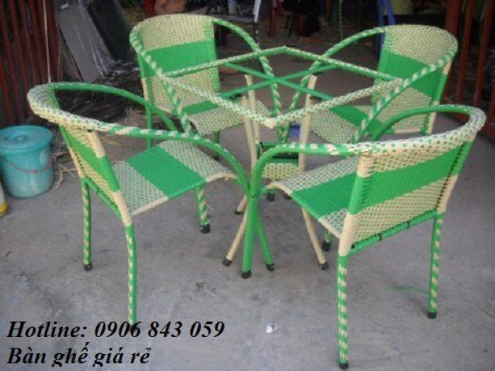 Thanh lý bàn ghế mây giá rẻ nhất,  nhận giá ưu đãi thêm0