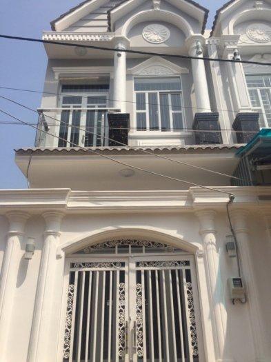 Bán nhà sổ hồng riêng, Huỳnh Tấn Phát, Nhà Bè, DT 4x13m, 1 trệt 1 lầu, gồm 2 phòng ngủ. Giá 1,5 tỷ