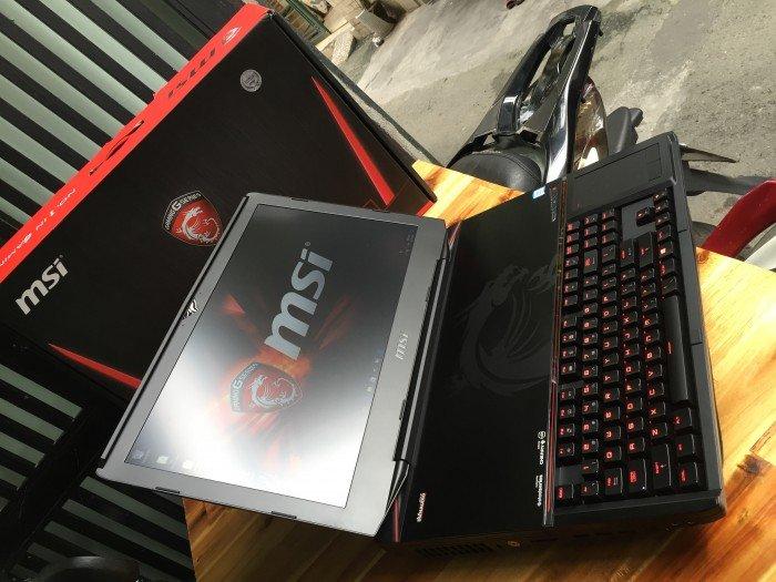Laptop MSI GT80S 6QE, i7 6820HK, ram 64G, Vga 16G, 18.4in, Full box, giá rẻ