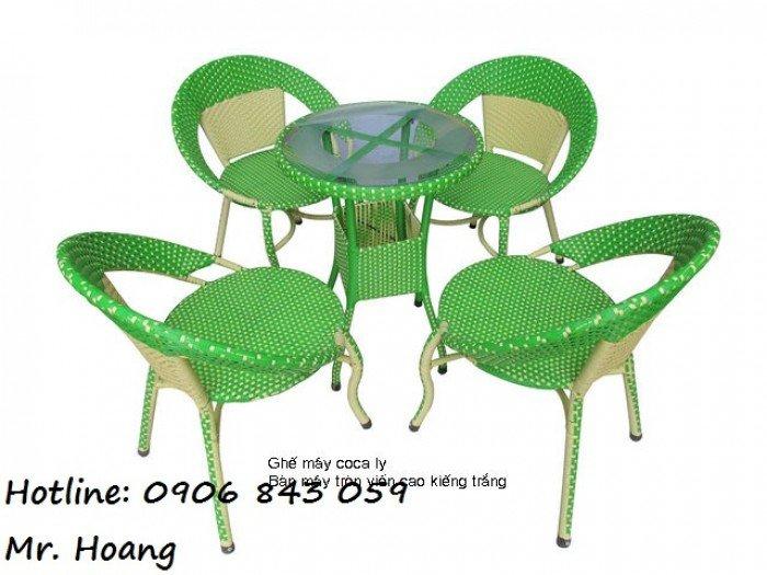 Bộ bàn ghế mây cà phê MS3