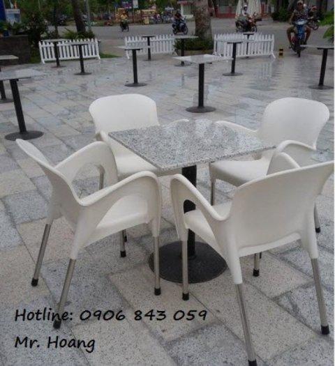 Bộ bàn ghế cà phê nhựa đúc