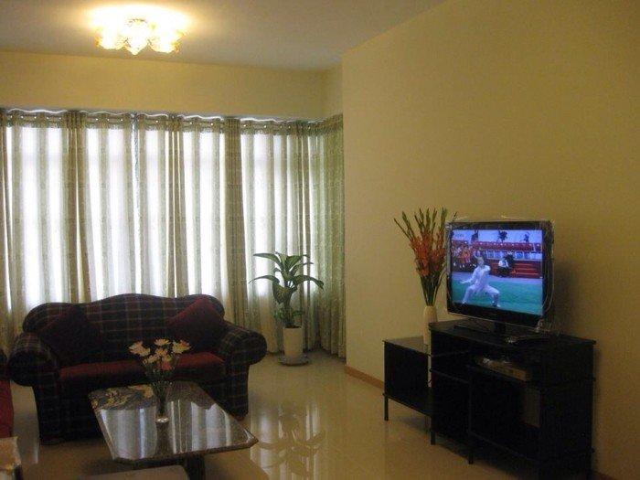 Cho thuê căn hộ chung cư  Hoàng Anh 1 Q.7 dt 110m, 3 phòng ngủ, giá 13.5tr/th, trang bị đầy đủ nội thất,