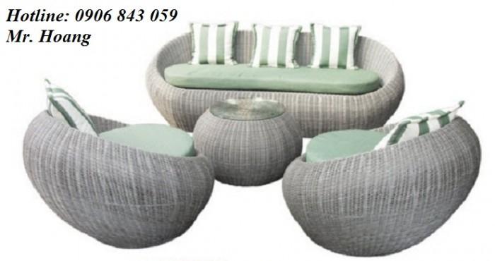 Sofa nhựa giả mây MS4