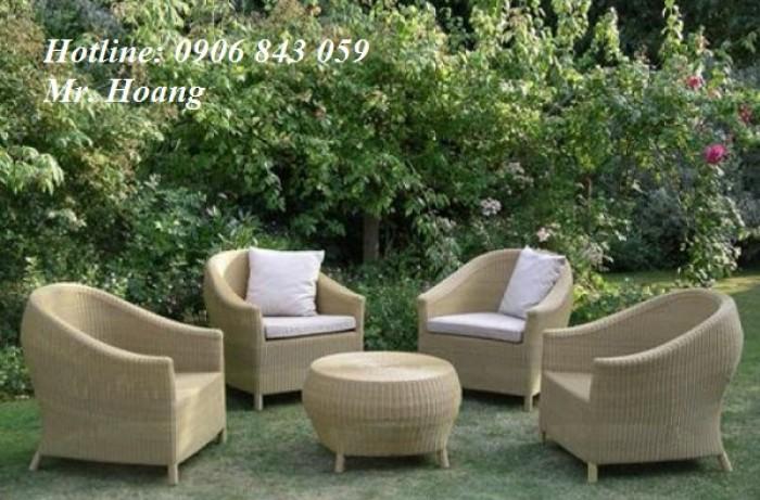 Sofa nhựa giả mây MS8, miễn phí vận chuyển0