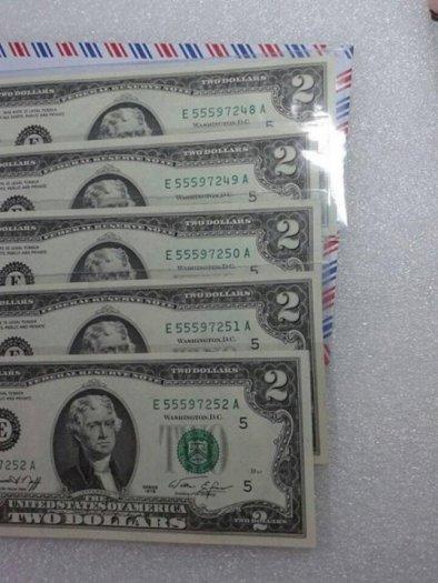 2 tờ 2 dola usd mỹ xưa năm 1976 mới đẹp3