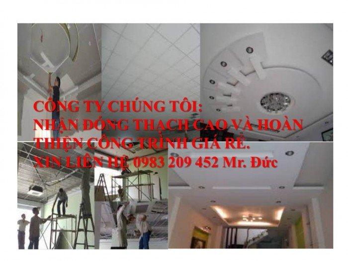 Nhận đóng thạch cao trần nhà giá rẻ
